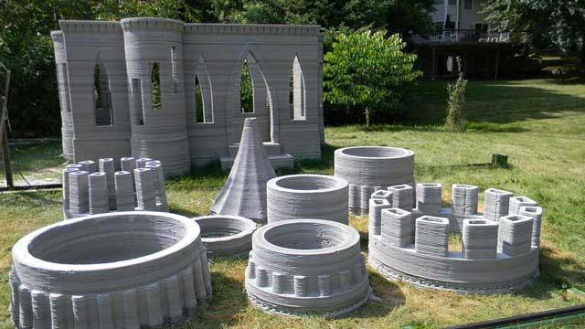 строительство дома замка в 3-Д