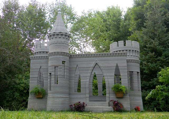 проект дома замка завершен